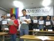 향린공동체 성도들이 최근 동성애 옹호로 말미암아 8개 주요 교단들로부터 이단성 조사를 받게 된 임보라 목사에 대한 지지, 이단 조사에 대한 규탄 기자회견을 가졌다.