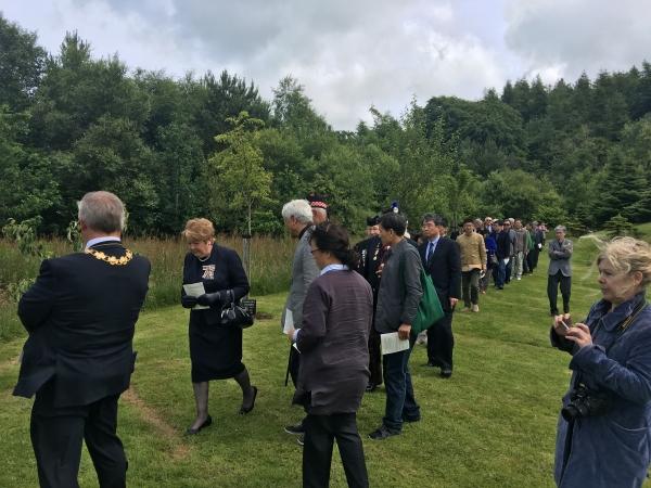 한국전 기념공원 예배 행진