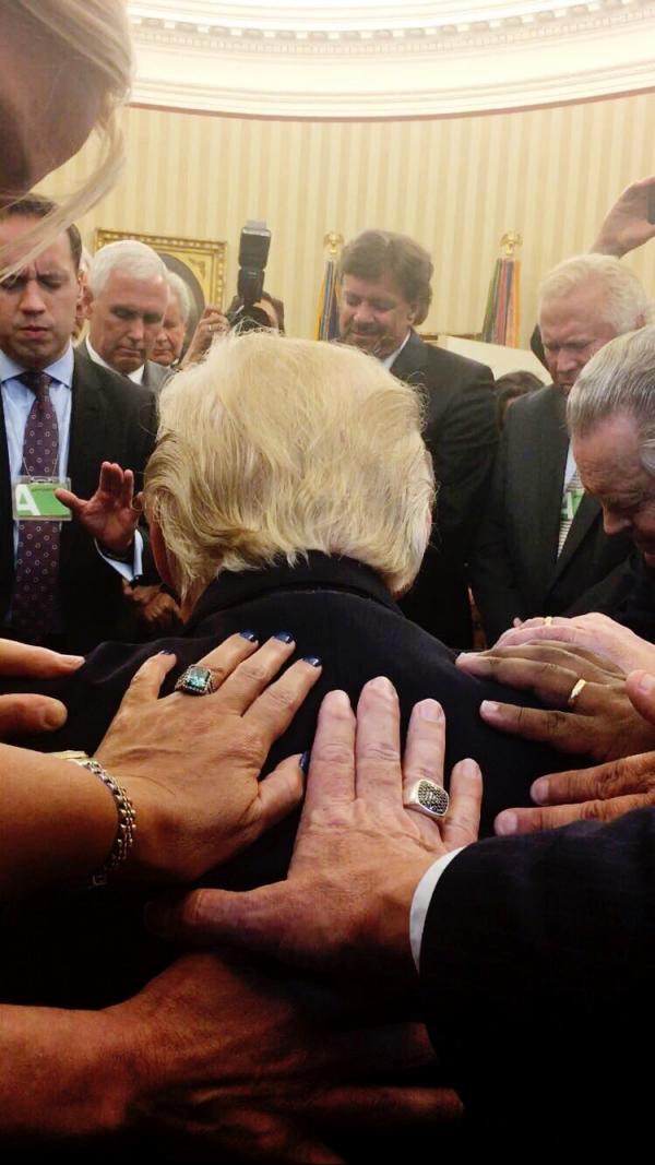 도널드 트럼프 미국 대통령 기도회