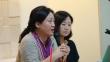 왼편이 섬돌향린교회 임보라 목사, 오른편이 美스펠만대 김나미 교수.