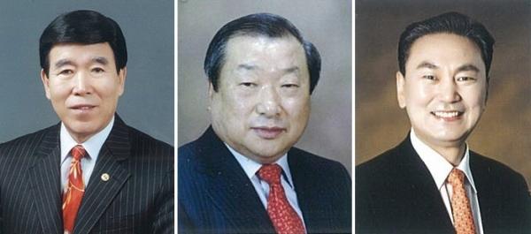 왼쪽부터 김노아 목사, 엄기호 목사, 서대천 목사.