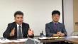 기자회견에 임하고 있는 기장 총회 이재천 총무(왼쪽)와 홍요한 국내선교부장.