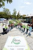 행사에-참여한-100여명이-초록리본-대형을-이룬-모습
