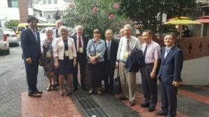 지난 13일부터 담임 목사의 나라와 교회를 방문한 어드벤트루터란교회 7명 교회 대표들