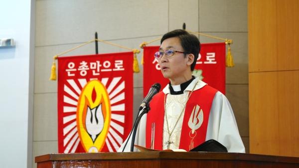 기독교한국루터회 제7대 신임 총회장 진영석 목사.