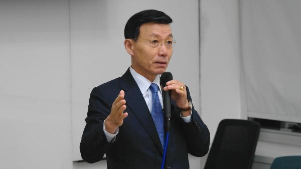 예비역 해군 준장인 심동보 나라사랑후원회 공동대표.