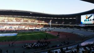 '국가와 민족, 평화를 위한 한국교회 연합기도회'가 열린 잠실종합운동장 올림픽주경기장의 모습.
