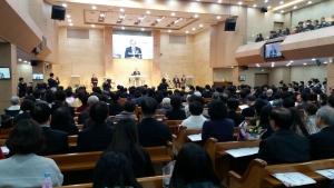 양문교회에서 '장로, 안수집사, 권사, 명예권사 임직 감사 예배'가 열렸다.