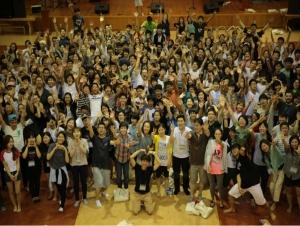 남북통합교육을 위한 하늘꿈학교 '남북청소년 영어통일캠프'에 참석한 청소년들. 영어를 매개로 남북한 청소년이 하나되어 작은 통일을 경험하는 체험의 장이다. ⓒ 하늘꿈학교