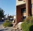 지진 피해가 발생한 한동대에서 건물 외벽이 손상된 모습.
