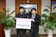 (사진)김기찬 총학생회장(왼쪽)과 장순흥 총장