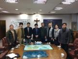 한동대 장순흥총장을 만나 지진 피해 상황을 듣고 위로한 일본 목회자들과 게인코리아 최호영 대표