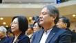 오른쪽이 NCCK 신임 총무 이홍정 목사.