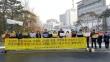 한국교회진리사랑연합회가 지난 18일 낮 서울시 교육청 앞에서 기도회 및 기자회견을 벌인 모습.