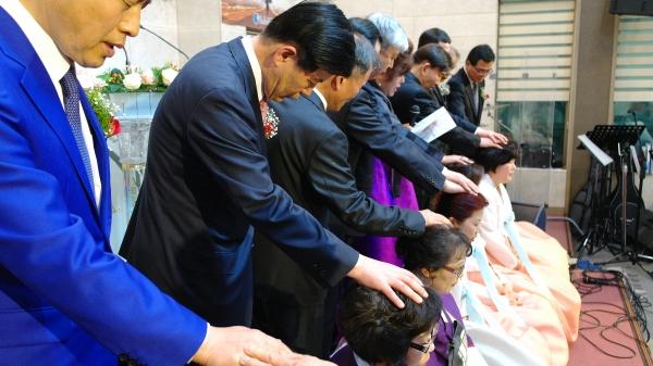 이순희 목사 백송교회 장로 안수집사 권사 임직식 임직감사예배 임직예배