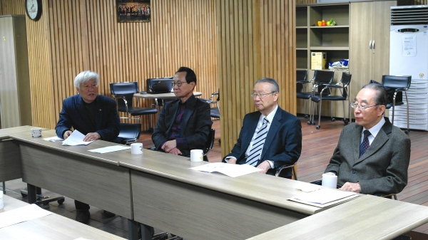 왼쪽부터 기감 김영주 목사, 기장 박종화 목사, 예장합동 장차남 목사, 예장합신 김명혁 목사.