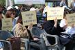 18일 낮 광화문 북측광장에서 열린 '생명보호대회'에 참석한 참가자들. 이들은 한 목소리로 낙태죄 폐지 반대를 외쳤다. ⓒ 낙반연 제공