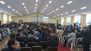 기하성 신수동 측이 충북 제천 소재 순복음총회신학교에서 제67차 정기총회를 개최했다.