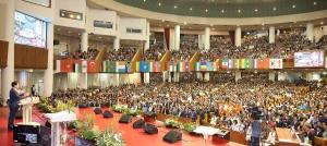 여의도순복음교회(담임 이영훈 목사)는 23일 교회 대성전에서 '제44회 세계선교대회 순복음세계선교의 날 예배'를 드리고 691명의 해외 선교사와 가족들을 격려했다