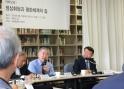 최근 열린 대화문화아카데미 대화모임에서 발제자로 나선 문정인 대통령 통일외교안보 특별보좌관이 발언하고 있다.