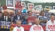 서울에서 동반연·동반교연의 NAP 반대 집회가 열린 가운데, 다수의 목회자들이 삭발투쟁으로 NAP 폐지를 촉구했다.