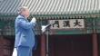 광복절 대한문 앞에서 열린 '8.15 한국교회 미스바대각성 구국금식기도성회'에서 발언하고 있는 한기총 대표회장 엄기호 목사.