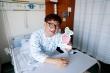 수술을 앞두고 신장기증인 한준희 씨가 환하게 웃고 있는 모습