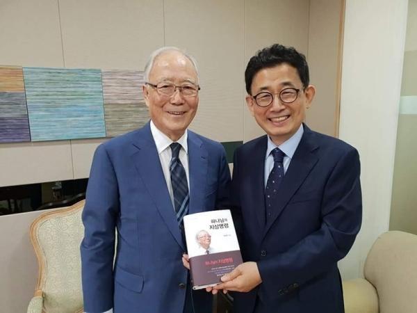 박조준 목사(왼쪽)와 서울씨티교회 조희서 담임목사.