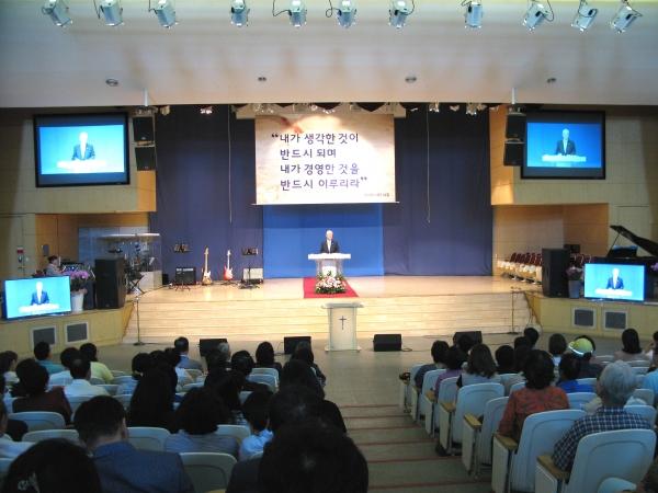 많은 이들이 서울씨티교회 2018 총동원 주일예배에 관심을 보여 본당은 빈 자리가 없이 꽉 찼다.