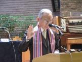 취임선서를 하고 있는 NCCK 신임회장 이성희 목사.