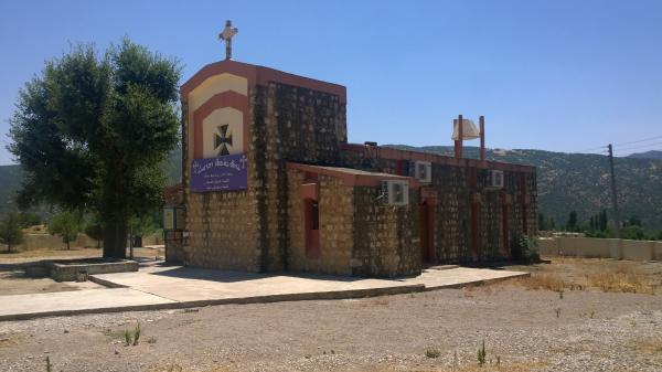 나흘라 계곡에 세워진 이라크 기독교인 공동체의 교회