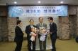 새로 선출된 대표회장 송태섭 목사(오른쪽에서 두 번째)와 상임회장 김수읍 목사(왼쪽에서 두 번째).
