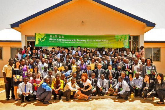 (사진)지난 2013년 가나에서 개최한 국제기업가정신 훈련 졸업식