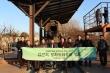 한동대 장순흥 총장과 교무위원들이 파주 임진각에서 통일준비 워크숍 기념 촬영을 하고 있다.