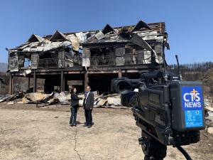 CTS 산불 재난 방송 NEWS