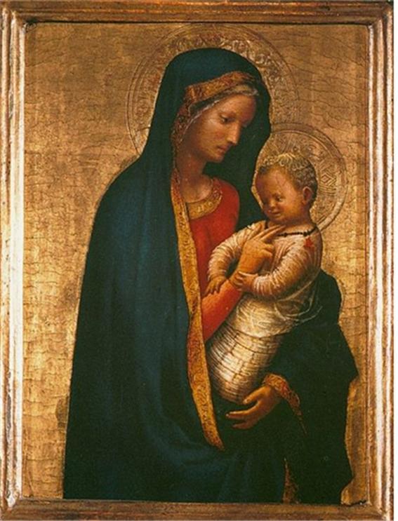 마사초, <마돈나와 아기예수>, 1426년경. 파넬에 템페라, 우피치미술관, 피렌체Masaccio, <Madonna and Child>, c.1426. tempera on panel, Galleria degli Uffizi, Florence