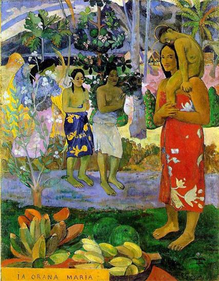 폴 고갱,<이아 오라나 마리아/아베마리아>,1891-92. 메트로폴리탄 박물관, 뉴욕Paul Gauguin, <IA ORANA MARIA/Hail Mary>, 1891-92. oil on canvas,Metropolitan Museum of Art, New York
