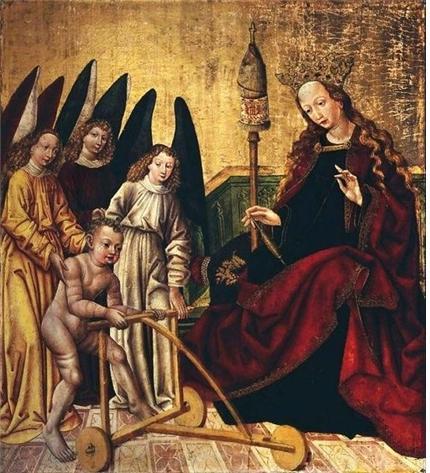 작가미상(실레시아장인), 유아 그리스도, 1480년경. 패널에 템페라와 금, 바르샤바 박물관, 폴란드 Anonymous (Silesia), Infant Christ. circa 1480. tempera and gold on panel  National Museum in Warsaw (MNW)