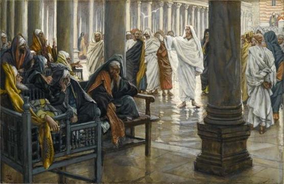 제임스 티소, 화 있을진저 서기관과 바리새인들이여 , 1886-96. 부루클린박물관 James Tissot, Woe unto You, Scribes and Pharisees,  Brooklyn Museum Public Domain