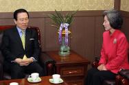 박선영 의원, 한기총 방문해 탈북자 인권 문제 논의