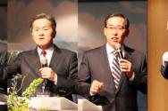 한기홍 목사, 유진소 목사, 진유철 목사, 김춘근 장로가 각각 세미나를 인도하고 있다.