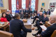 오바마 대통령 종교계 지도자들 미팅