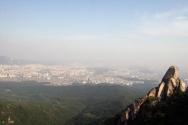 등반대회 우이암 서울전경
