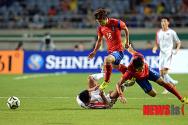 치열한 아시안게임 남북축구