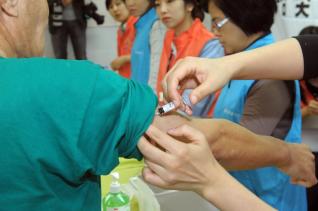 독감과 폐렴 예방접종을 실시하고 있다.