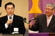 타코마 목사회 회장 최성은 이동기 목사와 기독교회연합회 회장 이동기 목사