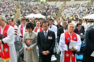부활절 연합예배 참석한 '불교인' 박원순 시장