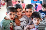 [사진제공=월드비전]_사진7_월드비전 아동보호심리센터에서 보호 받고 있는 난민 아동들
