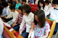 주일학교 예배 모습