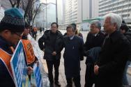 NCCK, 동양시멘트 비정규직 노동자 농성현장 방문